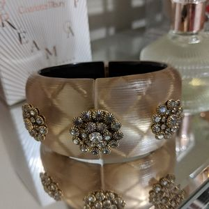 Alexis Bittar Vintage Lucite Hinged Cuff